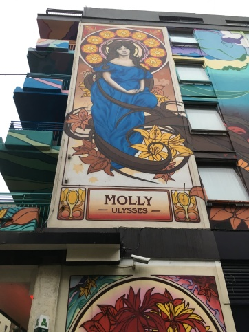 Mural of Molly Bloom on Blooms Hotel